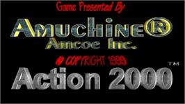 Title screen of Action 2000 on the Arcade.