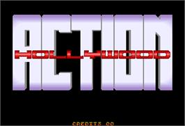 Title screen of Action Hollywood on the Arcade.