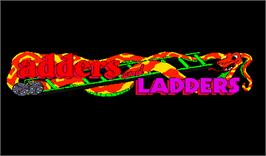 Title screen of Adders and Ladders on the Arcade.
