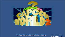 Title screen of Adventure Quiz Capcom World 2 on the Arcade.