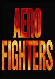 Title screen of Aero Fighters on the Arcade.
