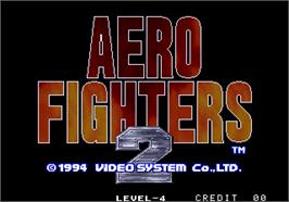Title screen of Aero Fighters 2 / Sonic Wings 2 on the Arcade.