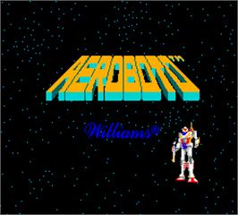 Title screen of Aeroboto on the Arcade.