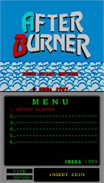 Title screen of After Burner on the Arcade.