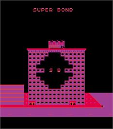 Title screen of Agent Super Bond on the Arcade.