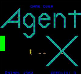 Title screen of Agent X on the Arcade.