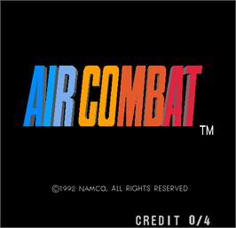 Title screen of Air Combat on the Arcade.
