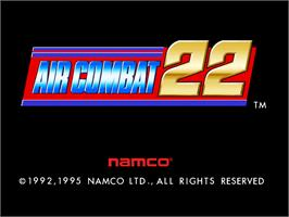 Title screen of Air Combat 22 on the Arcade.