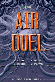 Title screen of Air Duel on the Arcade.