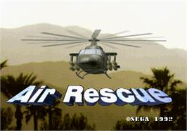 Title screen of Air Rescue on the Arcade.