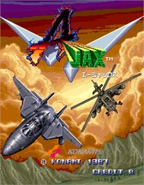 Title screen of Ajax on the Arcade.