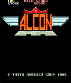 Title screen of Alcon on the Arcade.