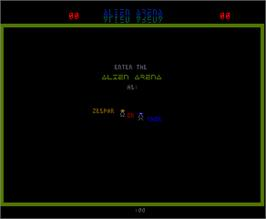 Title screen of Alien Arena on the Arcade.
