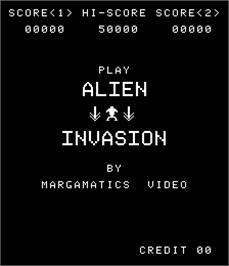 Title screen of Alien Invasion on the Arcade.