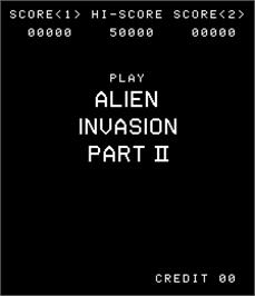 Title screen of Alien Invasion Part II on the Arcade.