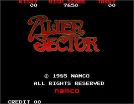 Title screen of Alien Sector on the Arcade.