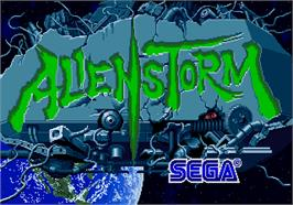 Title screen of Alien Storm on the Arcade.