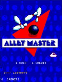 Title screen of Alley Master on the Arcade.