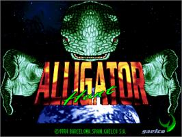 Title screen of Alligator Hunt on the Arcade.