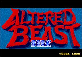 Title screen of Altered Beast on the Arcade.