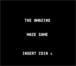 Title screen of Amazing Maze on the Arcade.
