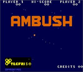 Title screen of Ambush on the Arcade.