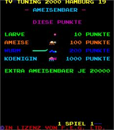 Title screen of Ameisenbaer on the Arcade.