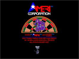 Title screen of AmeriDarts on the Arcade.