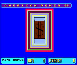 Title screen of American Poker 95 on the Arcade.