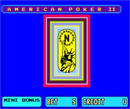Title screen of American Poker II on the Arcade.