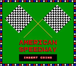Title screen of American Speedway on the Arcade.