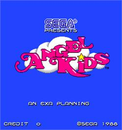 Title screen of Angel Kids on the Arcade.
