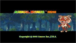 Title screen of Animal Bonus Nudge on the Arcade.
