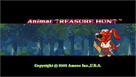 Title screen of Animal Treasure Hunt on the Arcade.