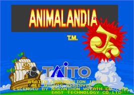 Title screen of Animalandia Jr. on the Arcade.