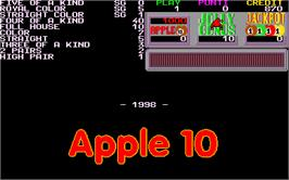 Title screen of Apple 10 on the Arcade.