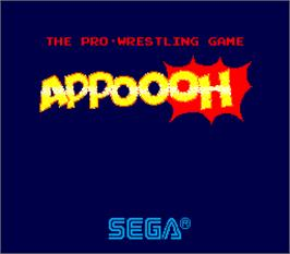 Title screen of Appoooh on the Arcade.