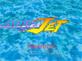 Title screen of Aqua Jet on the Arcade.