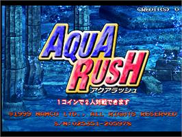 Title screen of Aqua Rush on the Arcade.