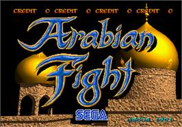 Title screen of Arabian Fight on the Arcade.