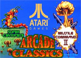 Title screen of Arcade Classics on the Arcade.