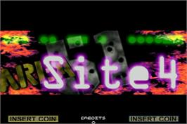 Title screen of Area 51: Site 4 on the Arcade.