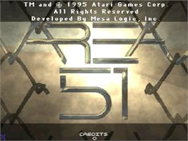 Title screen of Area 51 on the Arcade.