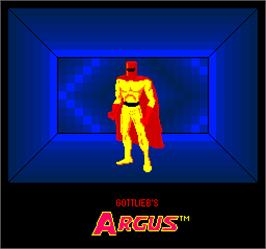 Title screen of Argus on the Arcade.