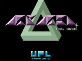 Title screen of Ark Area on the Arcade.