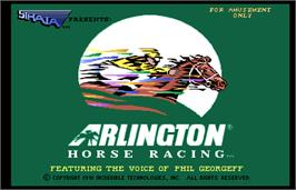 Title screen of Arlington Horse Racing on the Arcade.