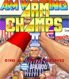 Title screen of Arm Champs II v1.7 on the Arcade.