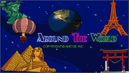 Title screen of Around The World on the Arcade.