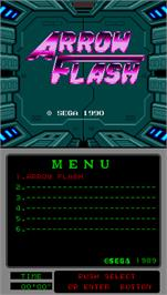 Title screen of Arrow Flash on the Arcade.