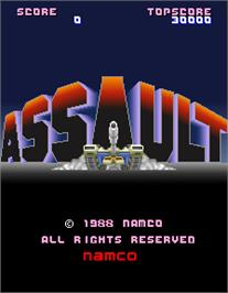 Title screen of Assault on the Arcade.